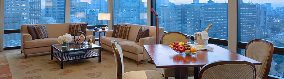 Deluxe suite at the peninsula Tokyo
