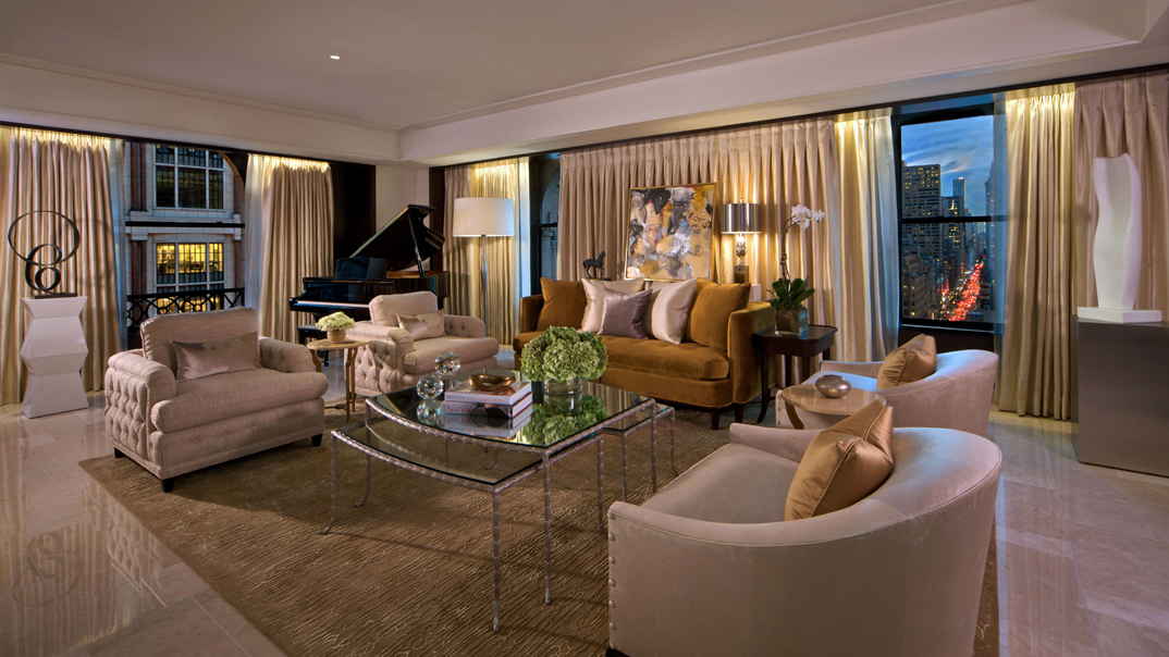 Peninsula Suite Living Room New York