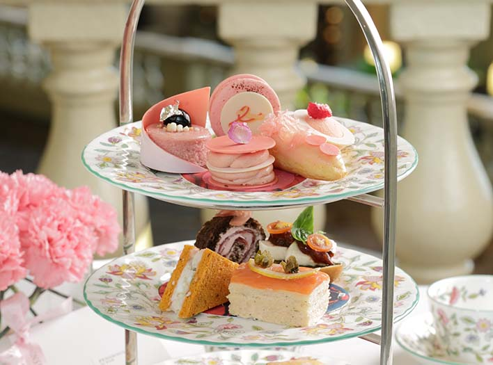 The Peninsula Manila Pen in Pink Afternoon Tea