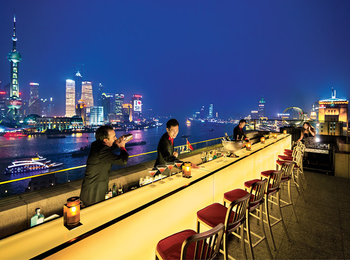 Sir Elly's Terrace Bar at The Peninsula Shanghai