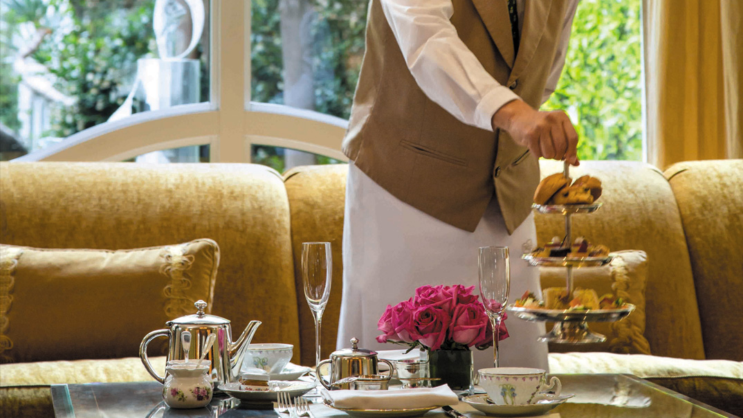 Afternoon tea at The Peninsula Beverly Hills