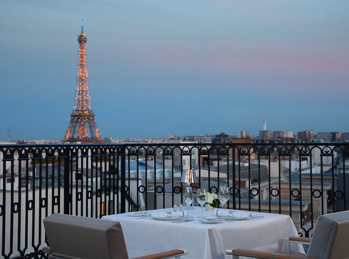 The Peninsula Paris terrace