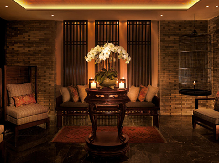Tea lounge at The Peninsula Beijing's spa