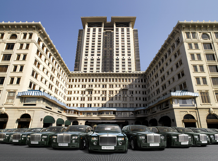 The Peninsula Hong Kong and its Rolls Royce fleet